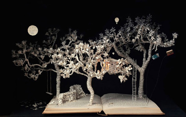 Beautiful 3D cut out of Books (4)