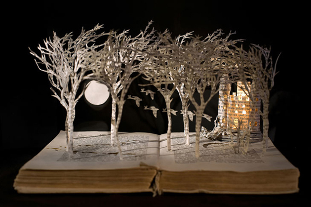 Beautiful 3D cut out of Books (5)