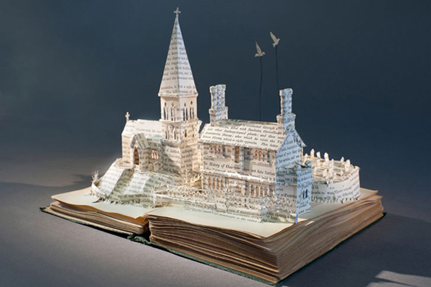 Beautiful 3D cut out of Books (6)