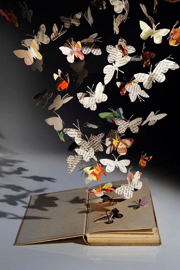 Beautiful 3D cut out of Books (8)