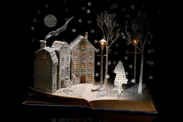 Beautiful 3D cut out of Books (9)