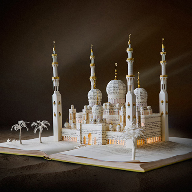 Beautiful 3D cut out of Books