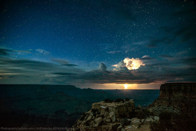 Best Photographs of Lighting Storms by Rolf Maeder-Grand-Canyon (13)