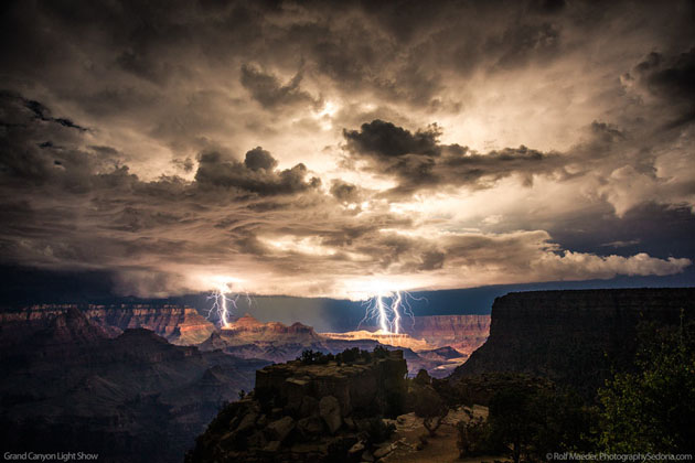Best Photographs of Lighting Storms by Rolf Maeder-Grand-Canyon (14)