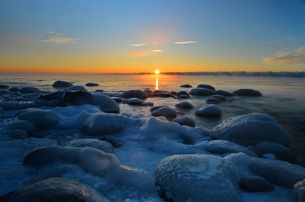 Cold Sunrise(close to -27C) by AZ Imaging - Lake Ontario,Ontario,Canada
