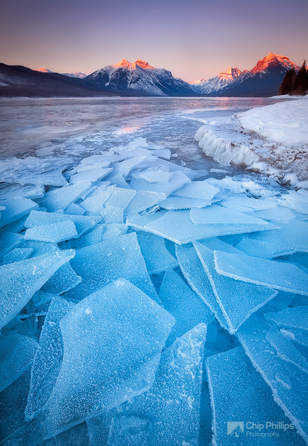 Lake McDonald Ice by Chip Phillips