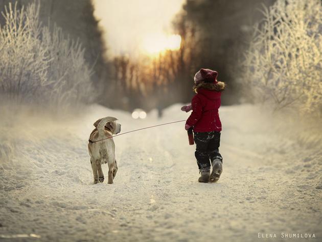 Last winter walk by Elena Shumilova