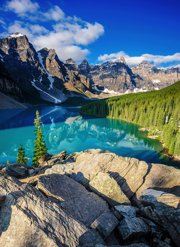 Moraine Lake at Banff National Park, Canada- Rocky of Rockies by Piriya Wongkongkathep