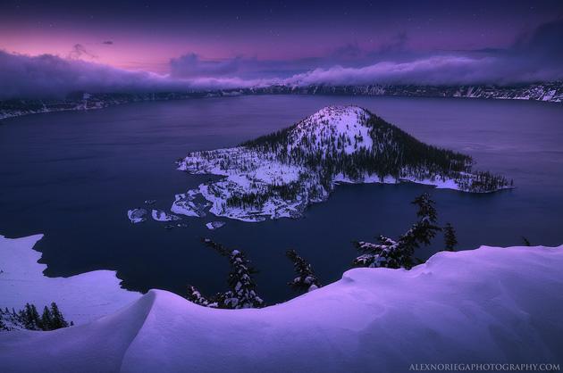 Oregon's Crater Lake - Indigo Wizard by Alex Noriega