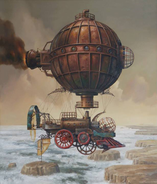 Extraordinary Paintings of Travel Vehicles by Jaroslaw Jasnikowski (1)