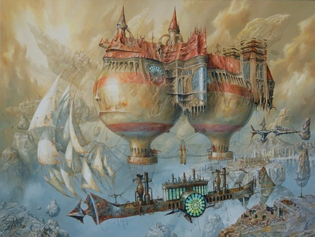 Extraordinary Paintings of Travel Vehicles by Jaroslaw Jasnikowski (16)