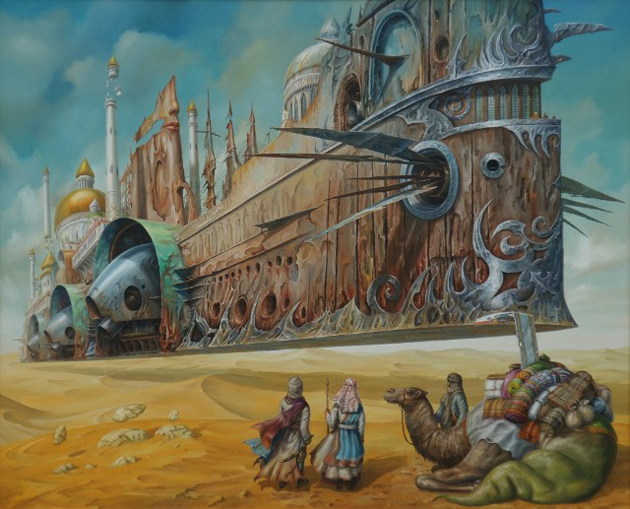 Extraordinary Paintings of Travel Vehicles by Jaroslaw Jasnikowski (17)