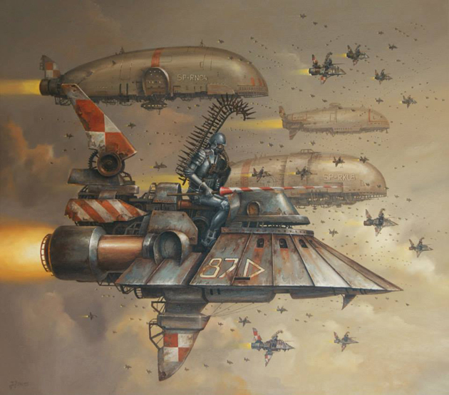 Extraordinary Paintings of Travel Vehicles by Jaroslaw Jasnikowski (2)