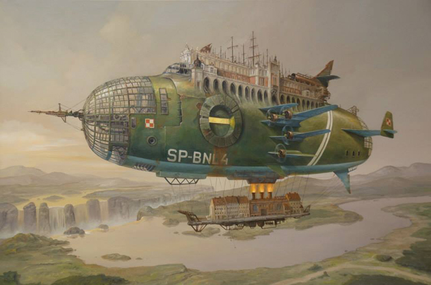 Extraordinary Paintings of Travel Vehicles by Jaroslaw Jasnikowski (3)