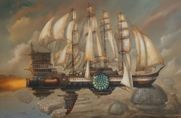 Extraordinary Paintings of Travel Vehicles by Jaroslaw Jasnikowski (4)