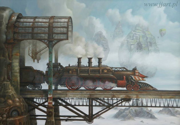 Extraordinary Paintings of Travel Vehicles by Jaroslaw Jasnikowski (6)