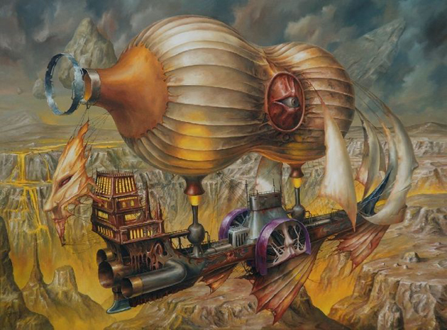 Extraordinary Paintings of Travel Vehicles by Jaroslaw Jasnikowski (8)