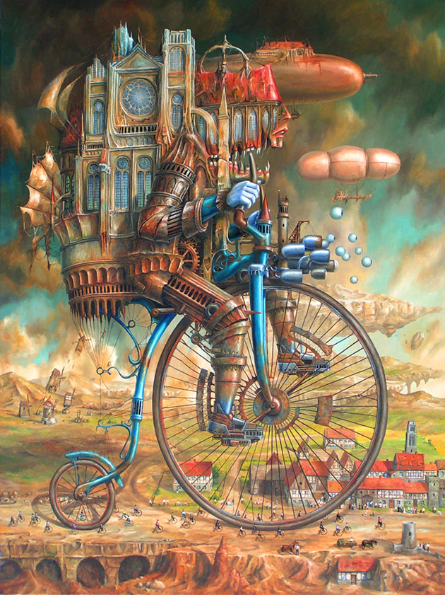 Extraordinary Paintings of Travel Vehicles by Jaroslaw Jasnikowski (9)