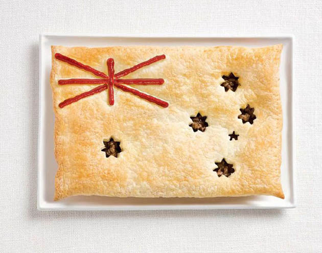 australia-amazing art of creating national flags with food items