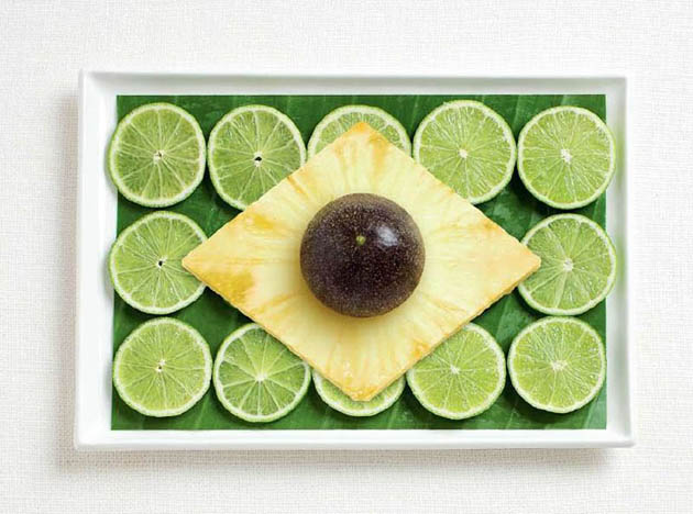 brazil-amazing art of creating national flags with food items