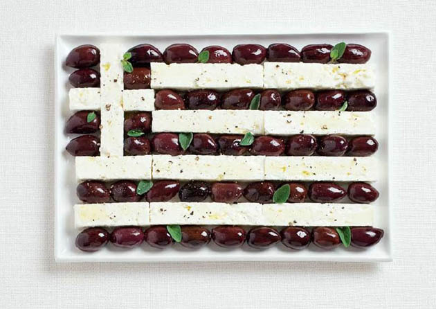 greece-amazing art of creating national flags with food items