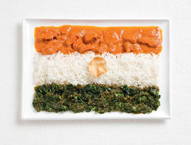 india-amazing art of creating national flags with food items