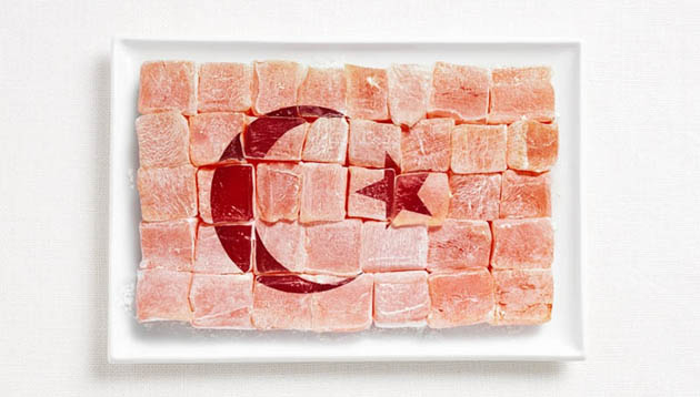 turkey-amazing art of creating national flags with food items