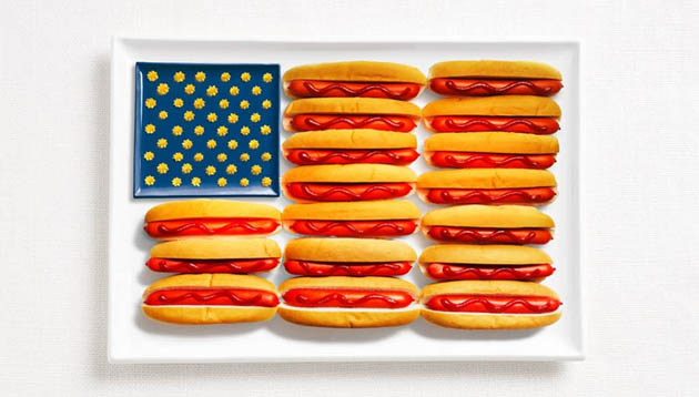 united-states-amazing art of creating national flags with food items