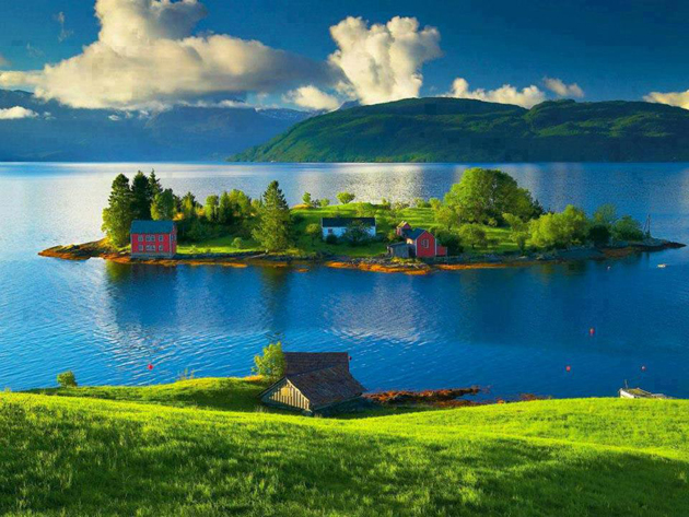 Beautiful small island - the coast of Norway