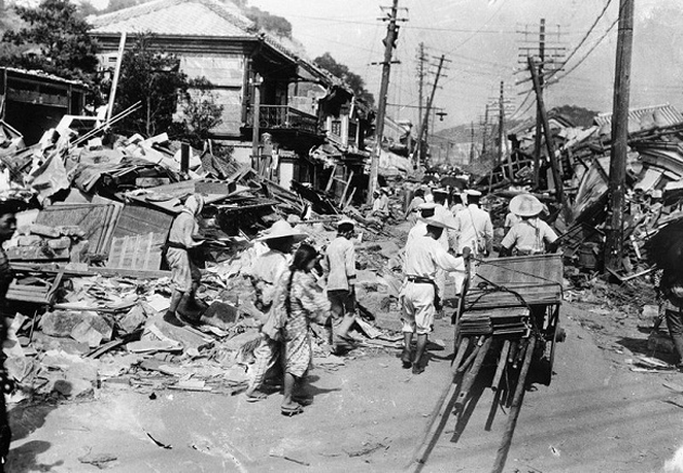 Cleaning Streets After Japan Earthquake