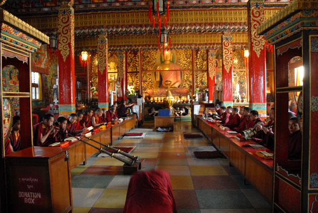 Monks at Shechen Monastery, Nepal