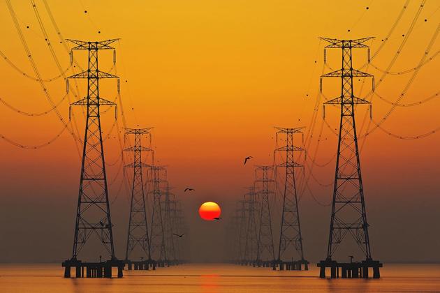 sunrise on a big lake by Tiger Seo