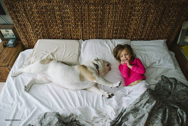 Beautiful Photos of a Little Girl and Her English Bulldog (16)