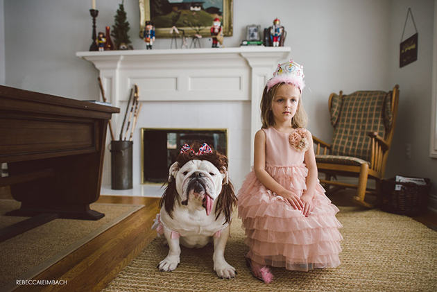 Beautiful Photos of a Little Girl and Her English Bulldog (5)
