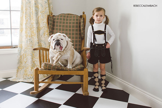 Beautiful Photos of a Little Girl and Her English Bulldog (6)