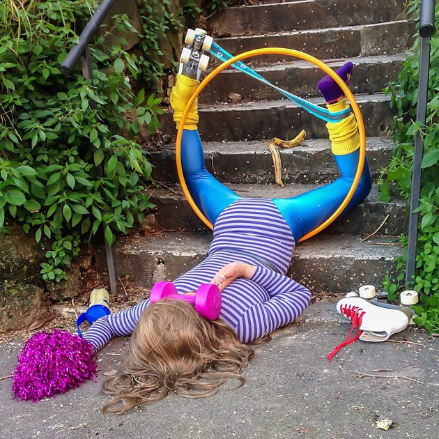 Hilarious Photo Series - Funny Photos of People Posing As If They Have Just Fallen Down (1)