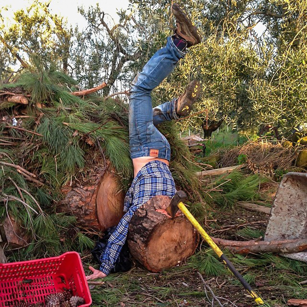 Hilarious Photo Series - Funny Photos of People Posing As If They Have Just Fallen Down (11)