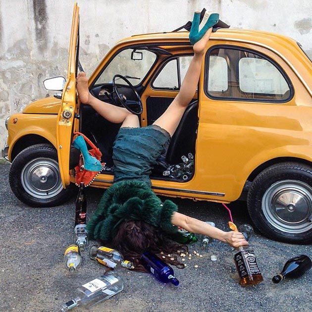 Hilarious Photo Series - Funny Photos of People Posing As If They Have Just Fallen Down (13)