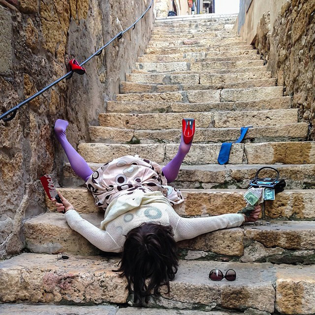Hilarious Photo Series - Funny Photos of People Posing As If They Have Just Fallen Down (6)