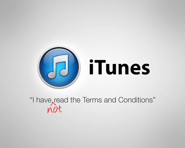 iTunes - i have not read the terms and conditions