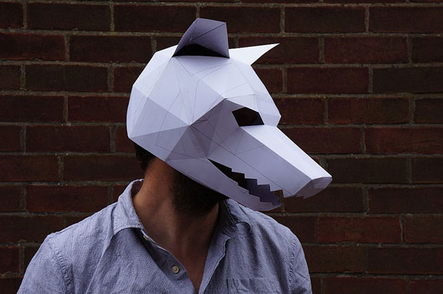 Creative Halloween Paper Masks by Steve Wintercroft (4)