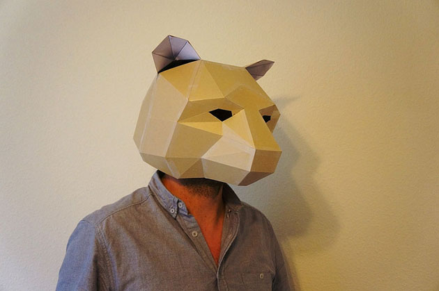 Creative Halloween Paper Masks by Steve Wintercroft (6)