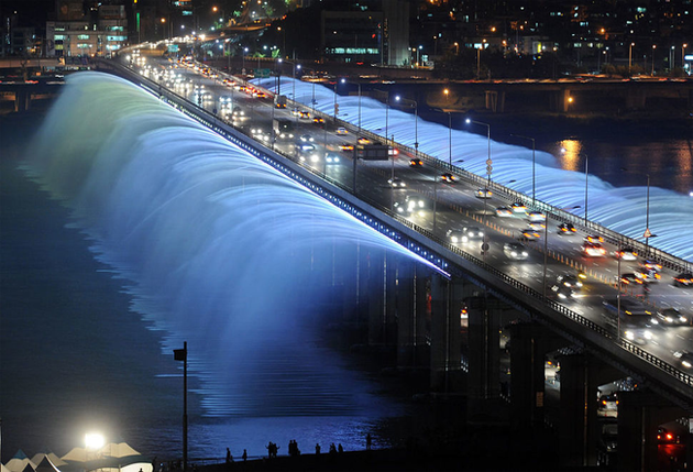 The Banpo Bridge, Seoul, South Korea