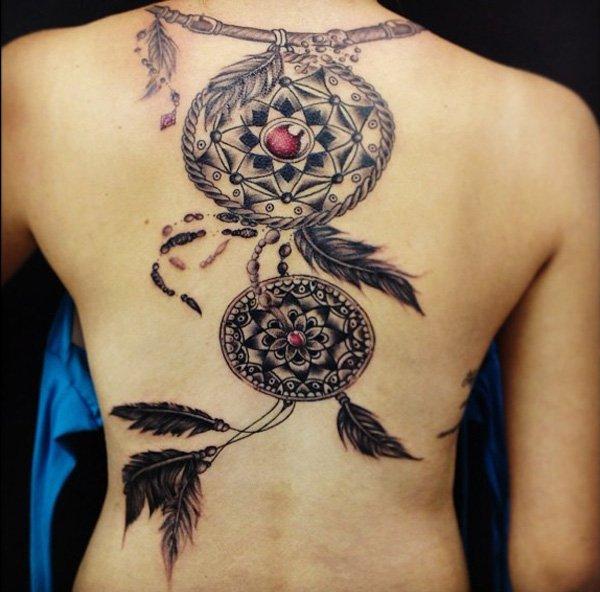 50+ Striking Feminine Dream-catcher Tattoos-great (1)