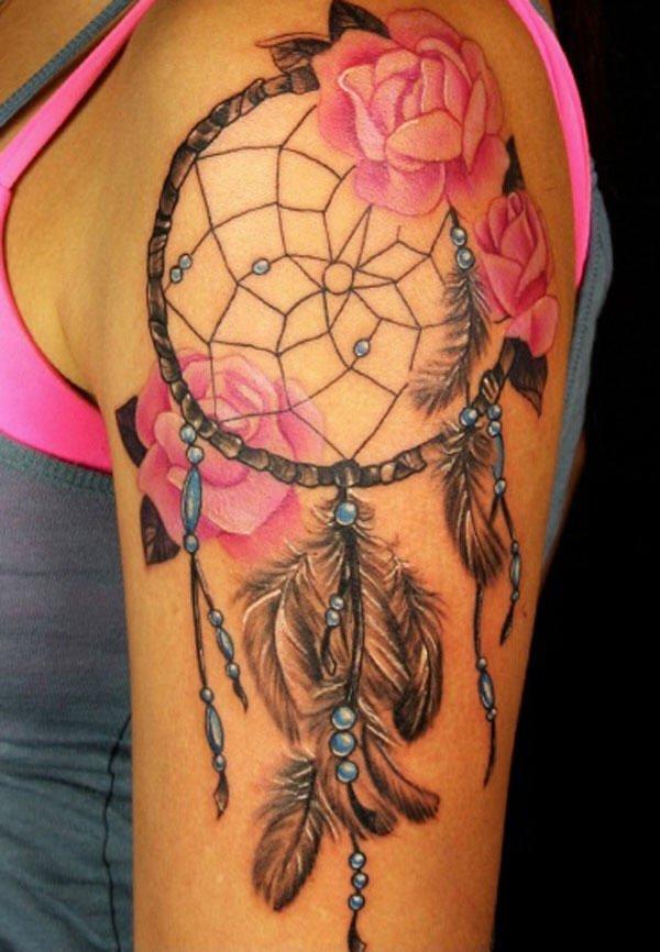 50+ Striking Feminine Dream-catcher Tattoos-great (10)