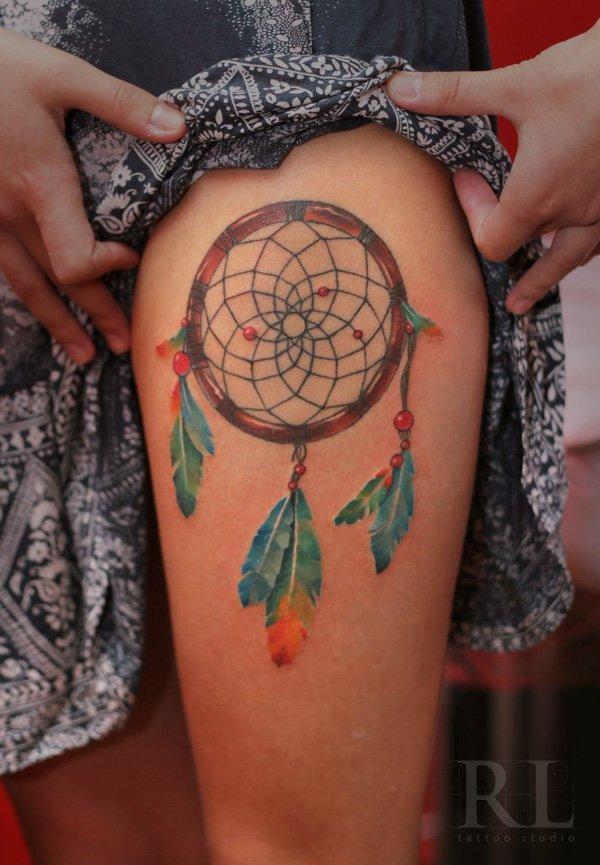50+ Striking Feminine Dream-catcher Tattoos-great (11)