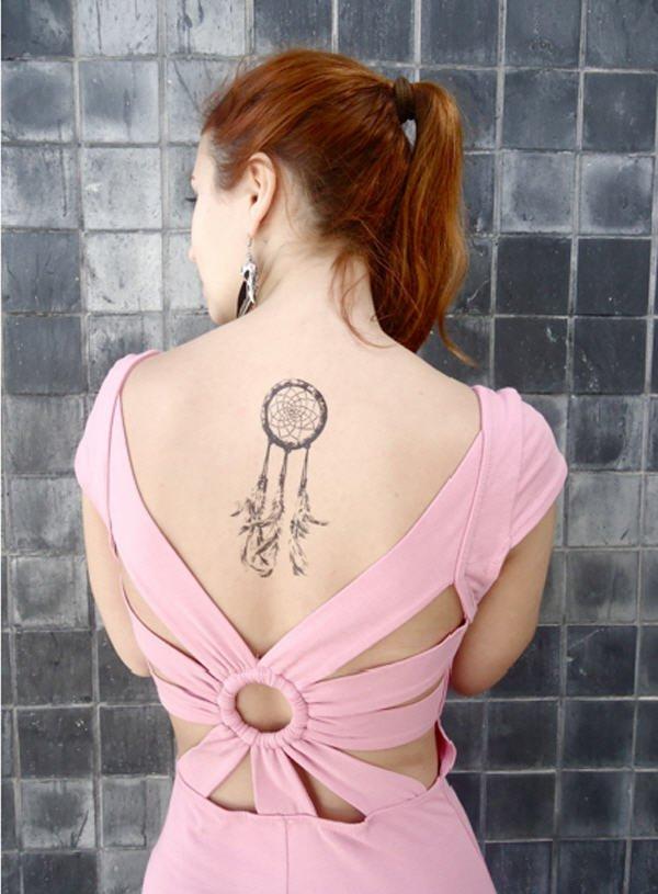 50+ Striking Feminine Dream-catcher Tattoos-great (18)