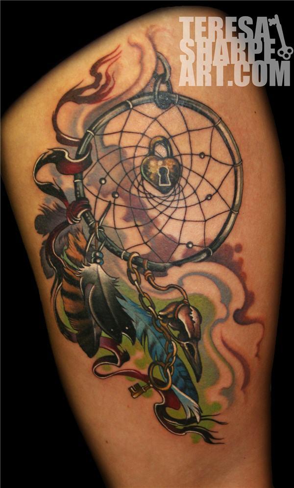 50+ Striking Feminine Dream-catcher Tattoos-great (2)