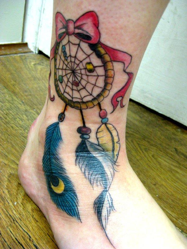 50+ Striking Feminine Dream-catcher Tattoos-great (22)