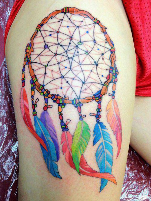 50+ Striking Feminine Dream-catcher Tattoos-great (23)